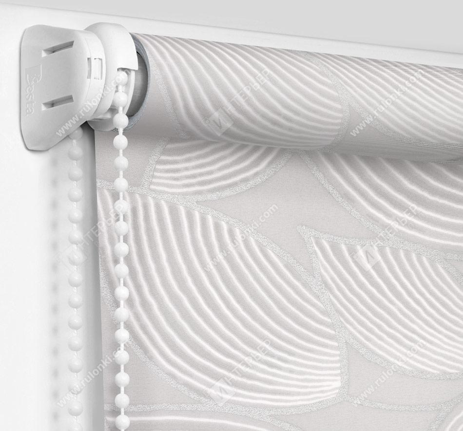 Рулонные шторы Мини - Ницца серебро