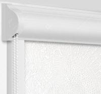 Рулонные кассетные шторы УНИ - Прованс белый на пластиковые окна