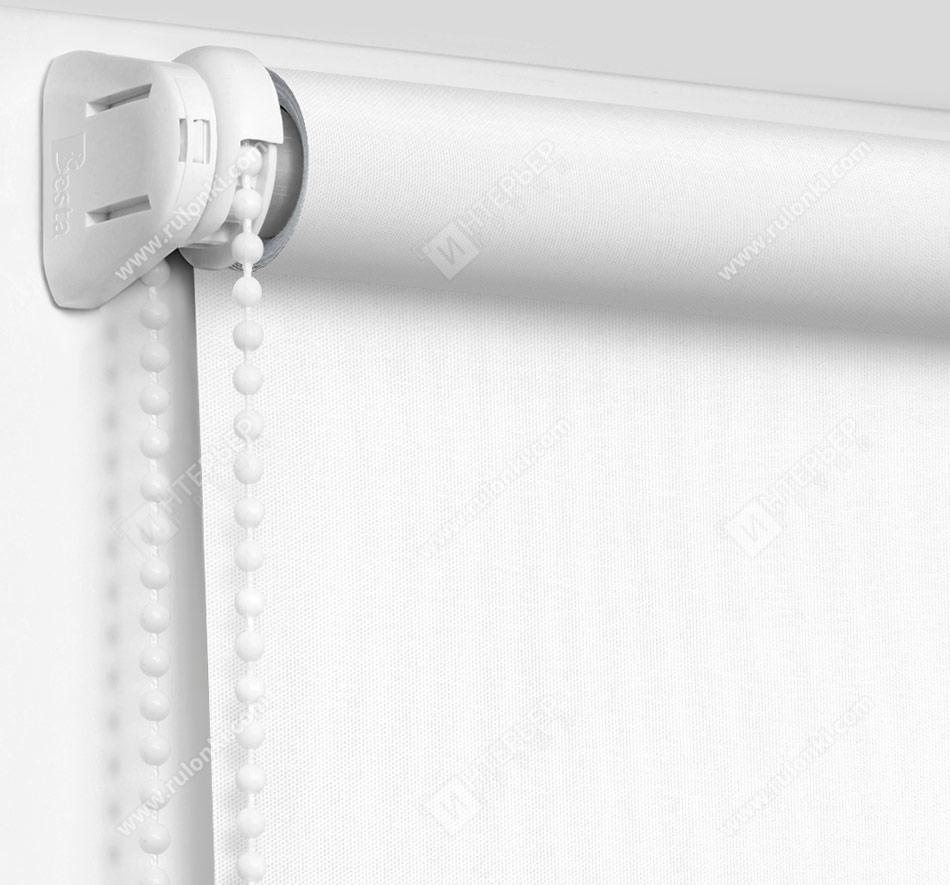 Рулонные шторы Мини - Респект фр белый блэкаут