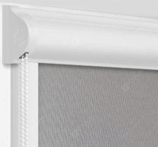 Рулонные кассетные шторы УНИ - Респект фр темно-серый блэкаут на пластиковые окна