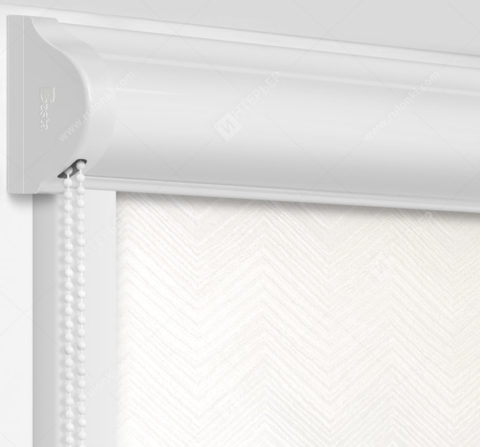Рулонные кассетные шторы УНИ - Шерни белый на пластиковые окна