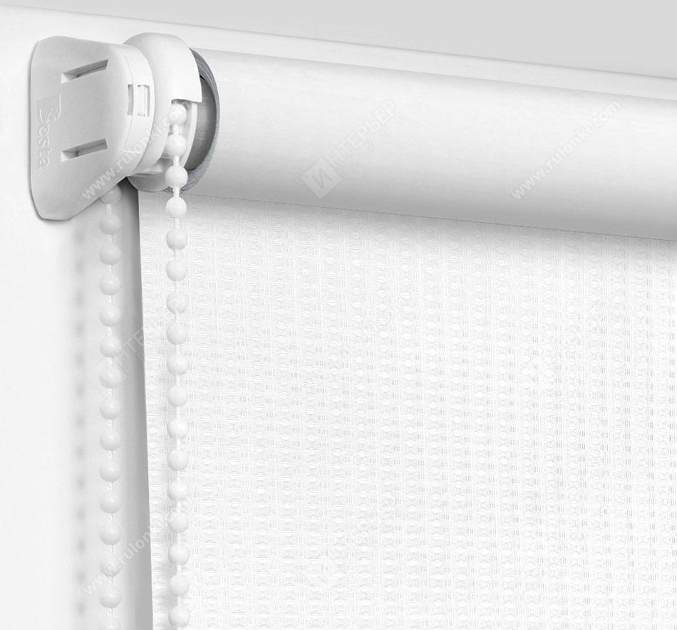Рулонные шторы Мини - Севилья белый блэкаут