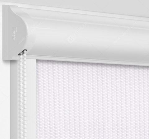 Рулонные кассетные шторы УНИ - Севилья серебро на пластиковые окна