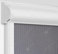 Рулонные кассетные шторы УНИ - Севилья серый на пластиковые окна