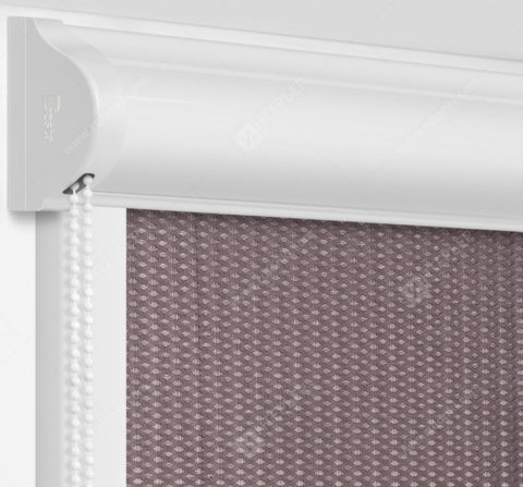 Рулонные кассетные шторы УНИ - Севилья шоколадный блэкаут на пластиковые окна