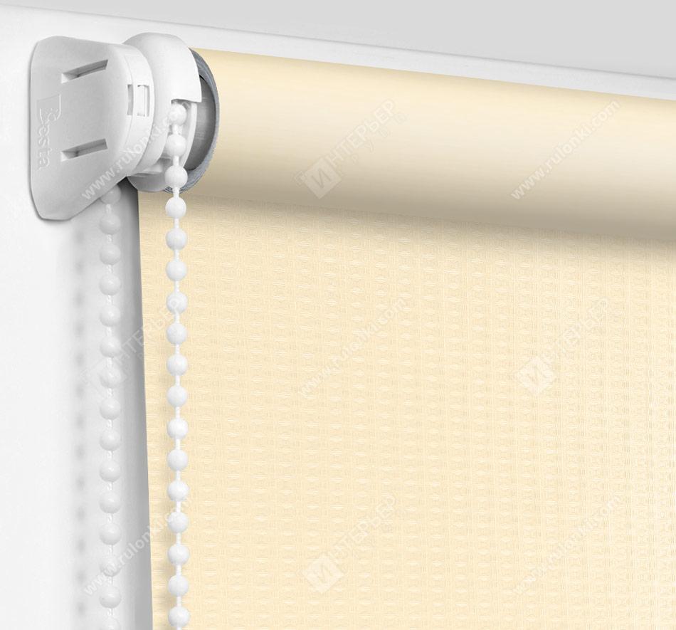 Рулонные шторы Мини - Севилья светло-бежевый блэкаут