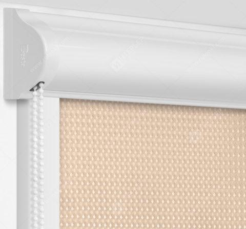 Рулонные кассетные шторы УНИ - Севилья темно-бежевый на пластиковые окна