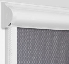 Рулонные кассетные шторы УНИ - Севилья темно-серый блэкаут на пластиковые окна