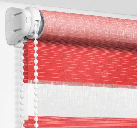Рулонные шторы День-Ночь - Модена красный 78