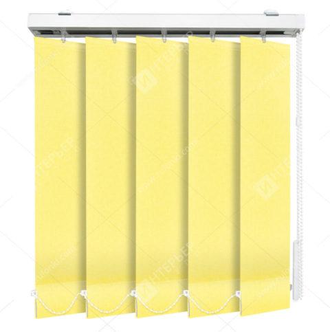 Вертикальные тканевые жалюзи Мадагаскар светло-желтый